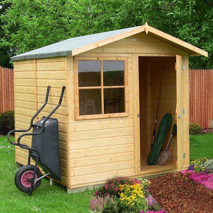 7X7 Abri Apex Shiplap Wooden Shed With Assembly Service 400 x 300