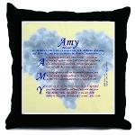 """Using the meaning of the name Amy (""""Beloved""""), this acrostic name blessing poem features an encouragment or blessing Scripture verse that starts with each letter in the name. Background image matches theme.    """"Amy"""" acrostic name blessing poem includes verses from Deuteronomy, Isaiah, Luke, and John."""