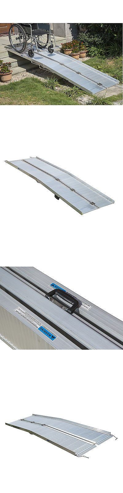 Access Ramps: Homcom 8 Folding Portable Suitcase Mobility Wheelchair Threshold Ramp BUY IT NOW ONLY: $185.7
