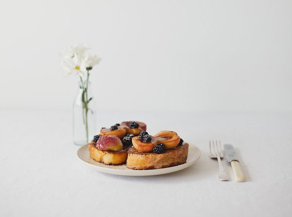 Grilled Nectarines and Blackberries on French Toast via Anthology: Recipe, Blackberries French, Grilled Nectarine, French Toast, Dreams Menu, Islands, Grilled Fruit, Nectarine French, The Roller Coasters