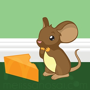 """""""Hungry Mouse"""" by Melissa Nosal, based on the Transformice game"""