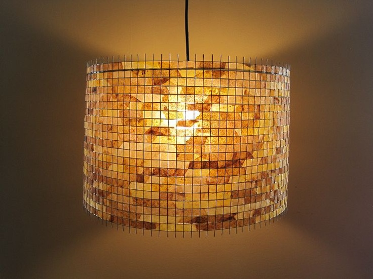 Recycled coffee filter lamps eco lighting