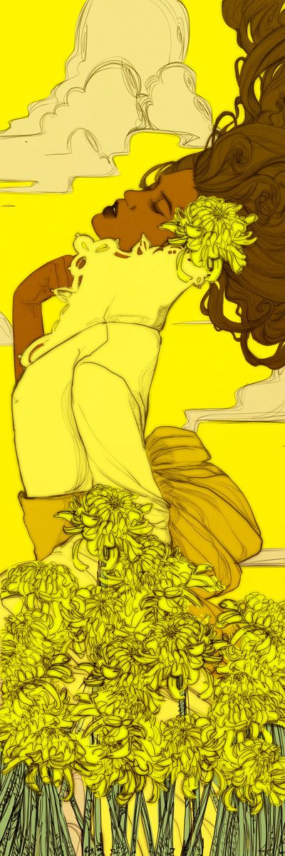 Yellow Chrysanthemums Bookmark Revised by *Newsha-Ghasemi on deviantART