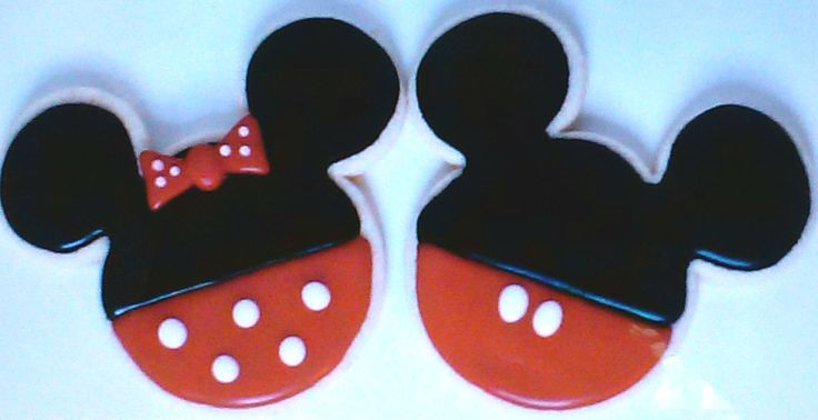 """Party Favors Character Cookies -  2.75"""" Mickey n Minnie"""