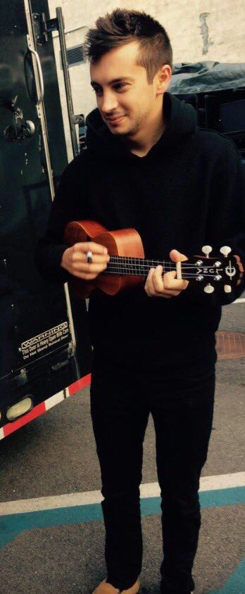 He's so cute with his little ukulele