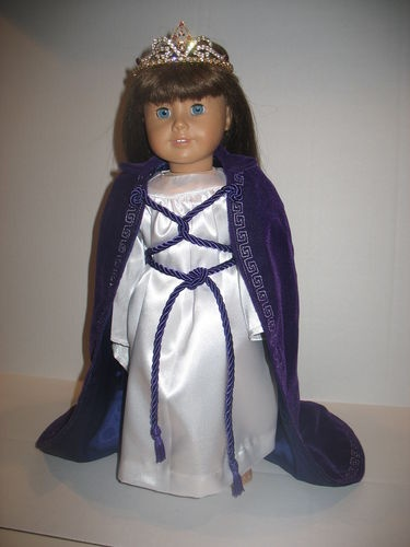 """Job's Daughters Honored Queen cape & robe for doll 