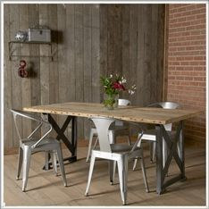 Industrial Factory Reclaimed Wood Table
