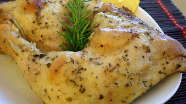 Greek Herb & Garlic Roasted ChickenChicken Recipe, Baking Chicken, Roasted Chicken, Herbs Garlic, Garlic Roasted, Food Recipe, Greek Herbs, Greek Garlic, Garlic Baking
