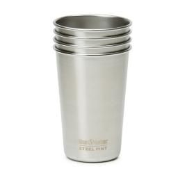 16oz Steel Pint Cup, 4 Pack - Unbreakable! This set of stainless steel cups will last and last. Great for parties, picnics and camping.