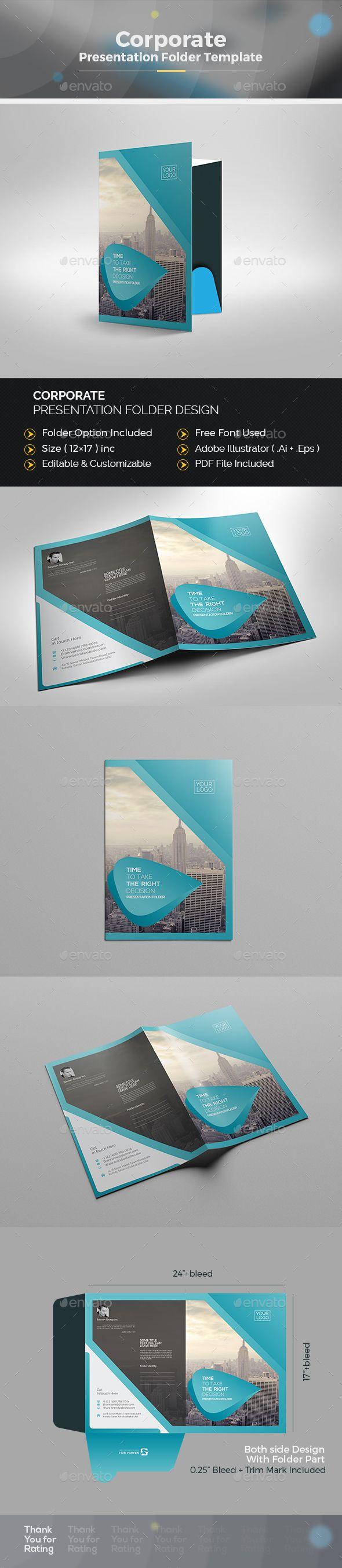 pocket folder template illustrator - 1000 ideas about presentation folder on pinterest