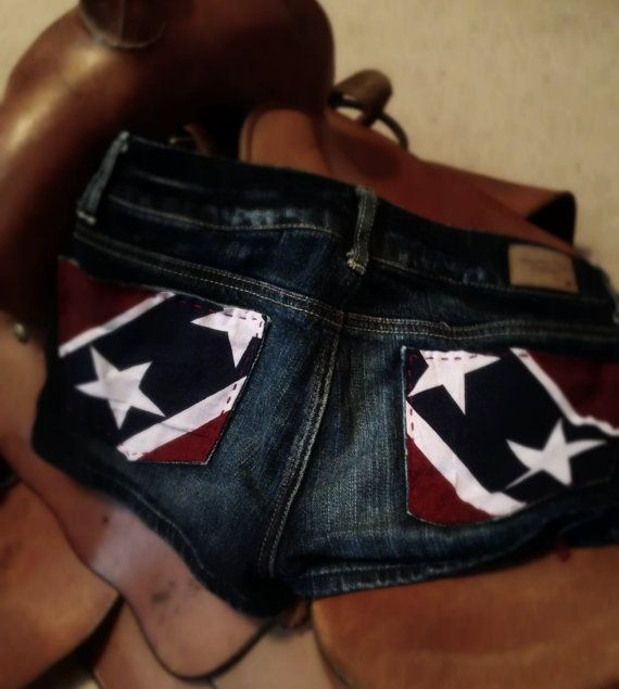 Rebel Flag Upcycled American Eagle Patriotic Shorts