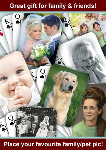 Personalised Playing Cards with own photo FREE P | eBay