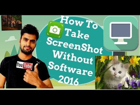 How To Take Computer ScreenShot Without Software Using Simple Two Method...