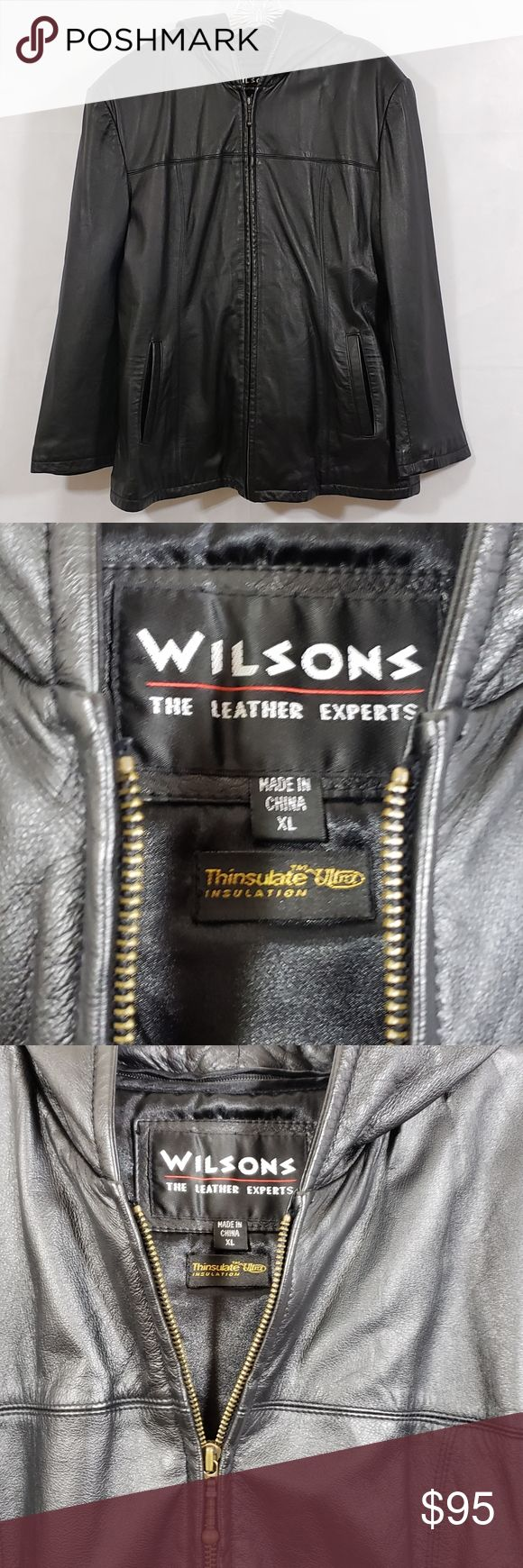 Wilson's The Leather Experts Jacket Vintage hooded leather