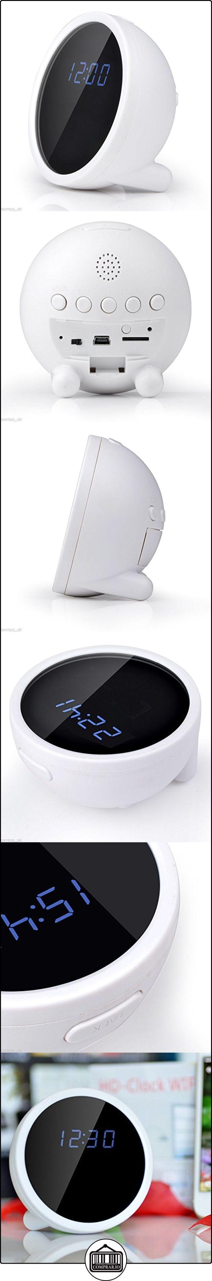 Mengshen® Tecnología elegante P2P WiFi IP 1280x720P HD 160 Amplio Ángulo de reloj del agujero de alfiler cámara oculta DVR videocámara de detección de movimiento, vista remota en tiempo real de vídeo para PC Smartphone MS-WH11  ✿ Vigilabebés - Seguridad ✿ ▬► Ver oferta: http://comprar.io/goto/B01DLZ1DCE