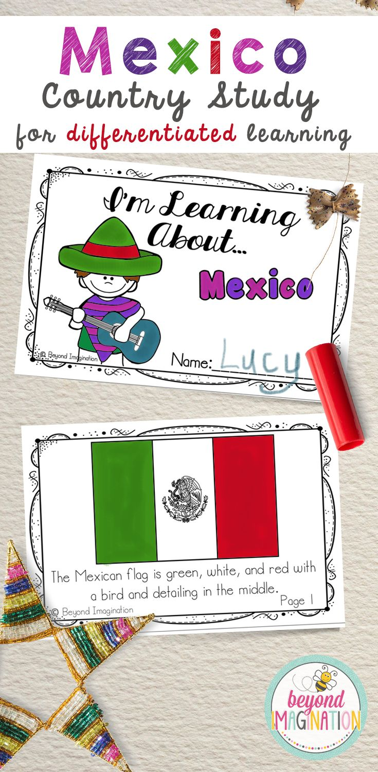 Travel to the land of Mexico via the comfort of your own elementary classroom. Includes super fun boarding passes and postcards. This fun fact country study project is perfect to use for an around the world unit, an international day, an international festival, a social studies unit, a cultural school project, a geography project, a cultural day, a cultural fair, a field day, or a multicultural day. Find out more about exploring Mexico with students by clicking on the link!