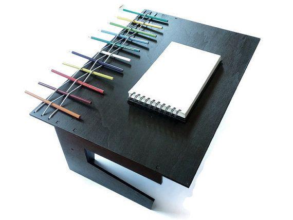 Laser cut wood writing desklaptop deskwood by LOHNtech on Etsy