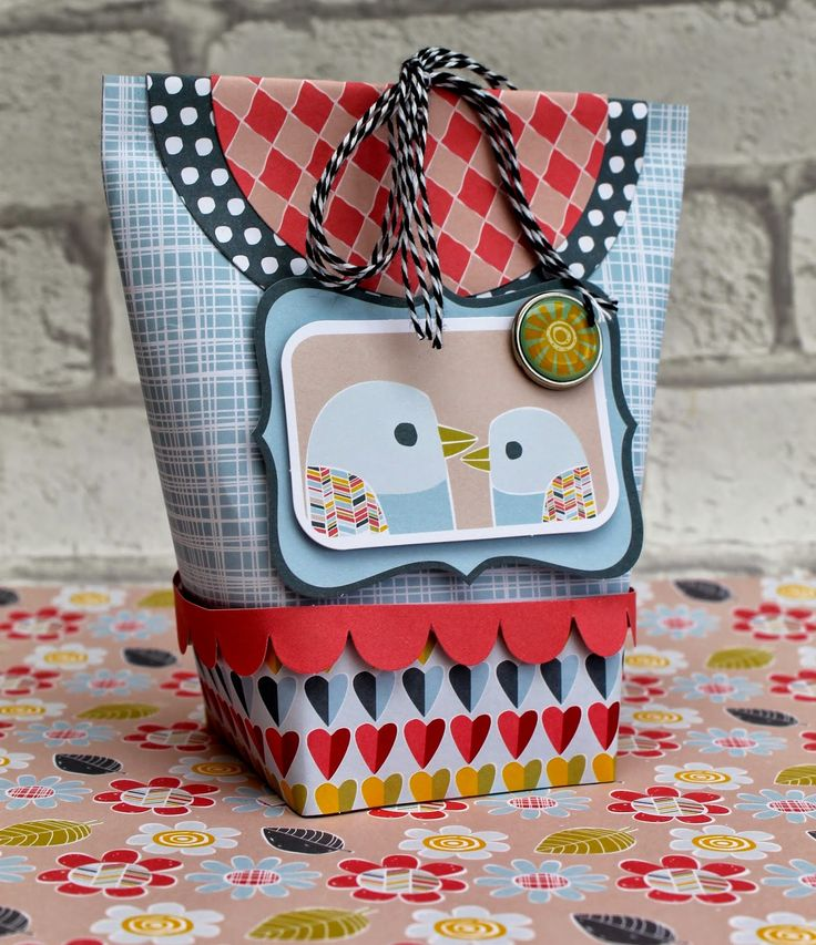 Cute gift box made with the Hello Sunshine collection from Craft Asylum!