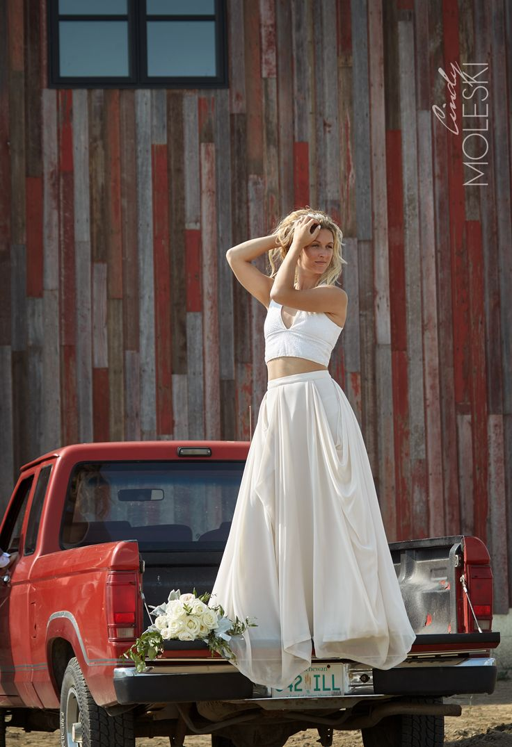 A stunning custom dress on a stunning bride.  Shot in the country outside of Buffalo Pound Provincial Park.
