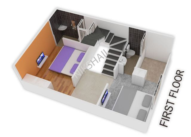 15x20 House Plan With 3d Elevation By Nikshail House Plans Small House Design House Design