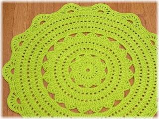 Handy Crafter Custom Handmade Crochet Doily Rug In Gr Green