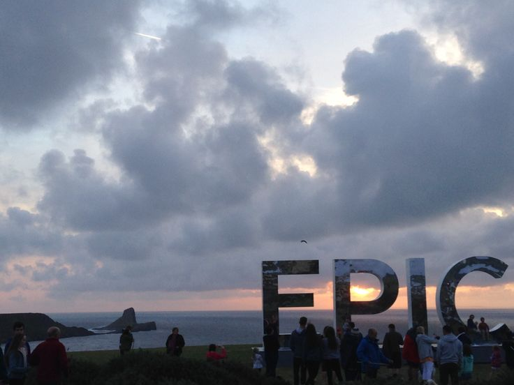 The 'EPIC' letters travel around Wales and stop off at iconic locations. They came to Rhossili Bay in summer 2016, overlooking Worms Head
