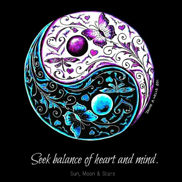 Seek balance of heart and mind. #quotes #balance #yinyang