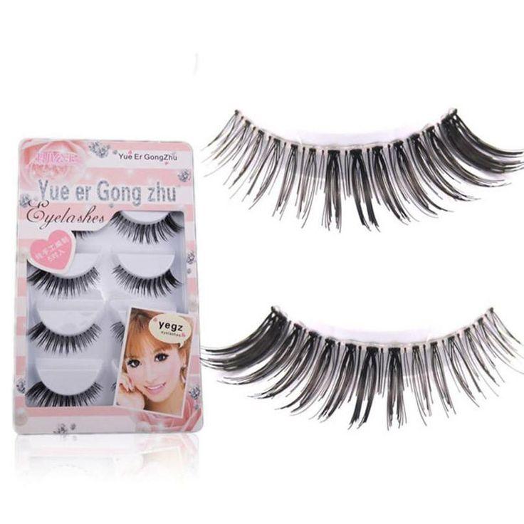 10 Pairs Long Cross False Eyelashes Makeup Natural Fake Thick Black Eye Lash