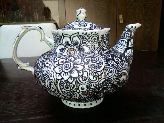 Henna Doodle Teapot