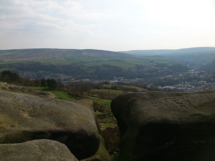Todmorden from Teddy Bear rocks