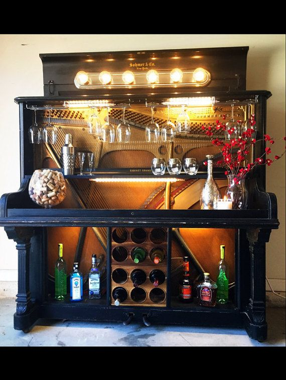 1869 Sohmer Repurposed Piano Bar by TheHandyHangover on Etsy