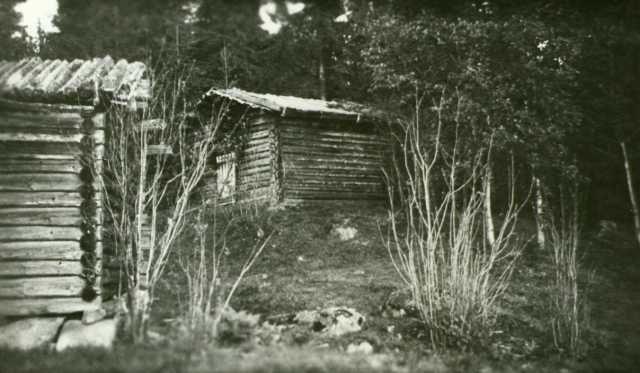 Badstu, Sæterbakken, Grue Finnskog, Grue, Hedmark. Fotografert 1935.