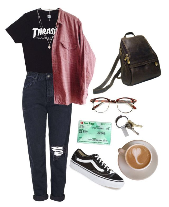 """Untitled #52"" by rach161097 ❤ liked on Polyvore featuring HUF, Topshop, Forever 21, Le Donne, CB2 and Vans"