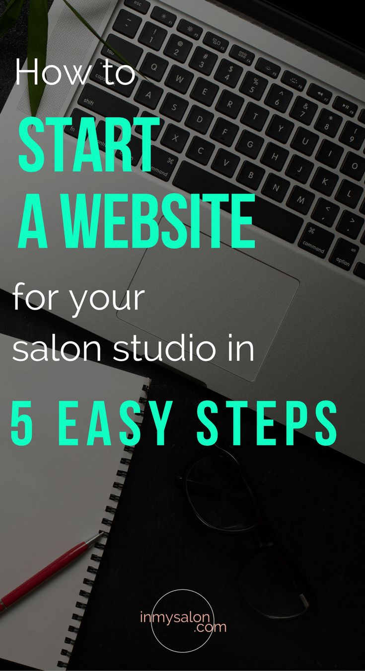 There are a few easy steps you will need to follow if you are going to start your own website for your salon studio and I am sharing the same steps I used to create this site with you today! Salon Ideas, Salon Decor #salonstudio #salonwebsite #salonmarketing >> inmysalon.com