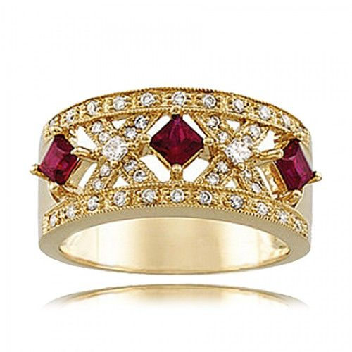 Ruby Ring. Who doesn't love a ruby piece? #FastFix #Chic
