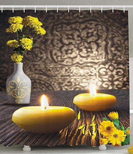 Resort Spa Home Decor Romantic Yellow Candles Zen