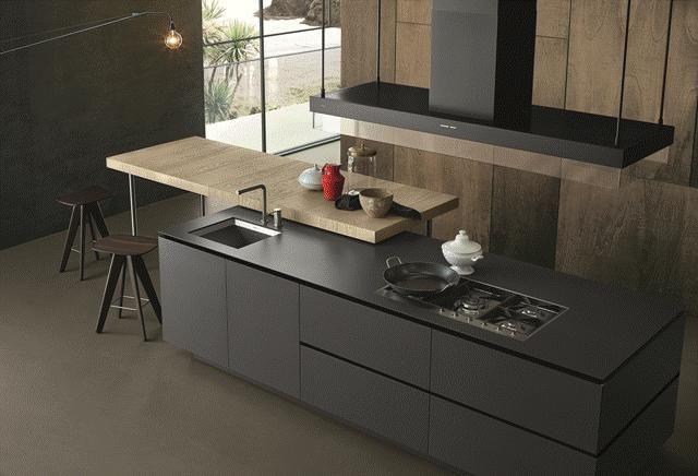 POLIFORM: Artex kitchen and Ics stool in oak