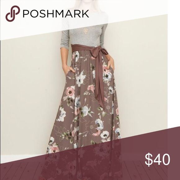 """Maxi Dress NWT My loss is your gain! I ordered this dress from Zulily (no return policy) and it's too snug in the chest for me. It's marked 3X but has to be a size smaller. Flat lay measurements: 22"""" chest, 62"""" length from shoulder to hem. $40 firm. Èloges Dresses Maxi"""