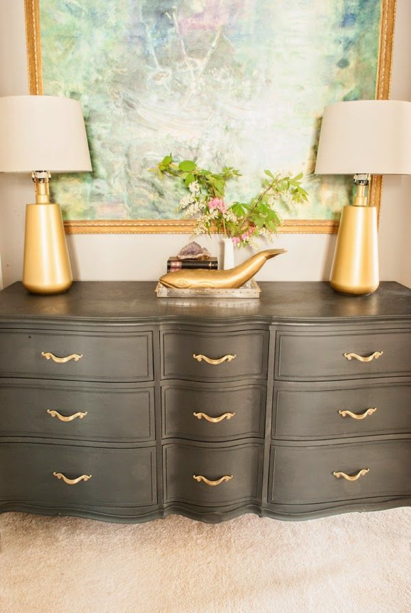 French Provincial Annie Sloan Graphite Dresser Cuckoo 4