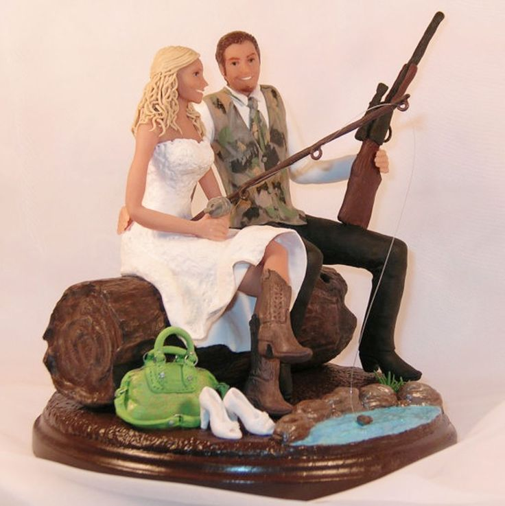 Items Similar To Hunting Fishing Wedding Cake Topper Cowboy Boots