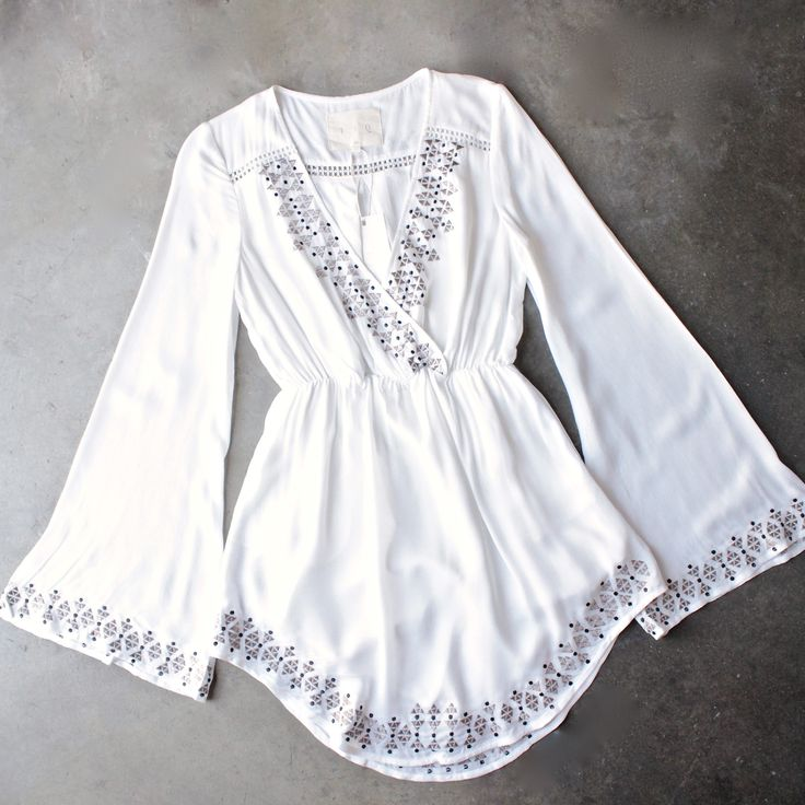 the jetset diaries - aztec mini dress in ivory - shophearts - 1