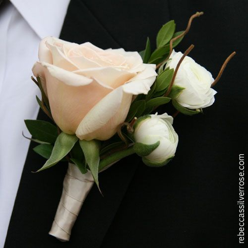 White Garden Rose Boutonniere 277 best corsages and boutieneers images on pinterest
