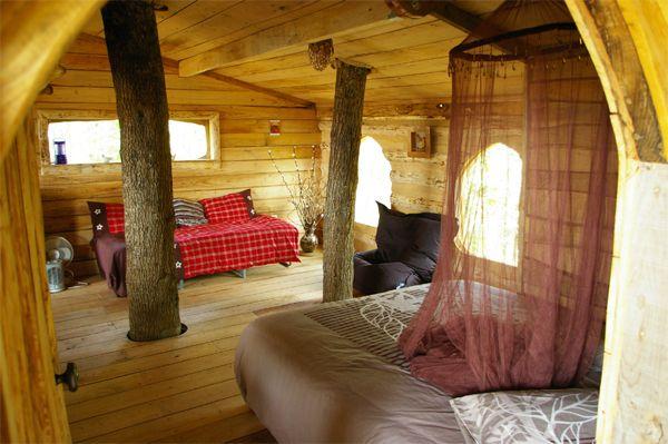 Cabane En Bois Dans Les Arbres : cabane en bois dans les arbres vue interieure – Recherche Google