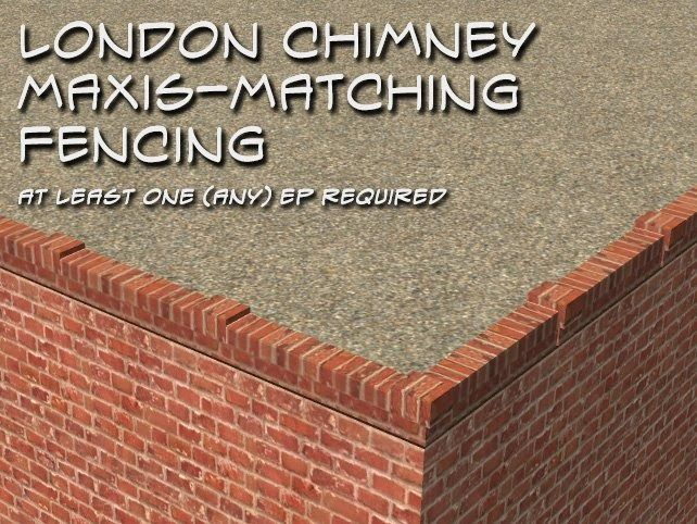 Male-Order Bride: London Chimney Maxis-Matching Brick Edging