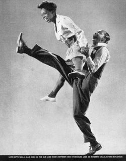 In the late 1920's in Harlem Lindy Hop was breaking out wherever people were partying... Kinda like today.