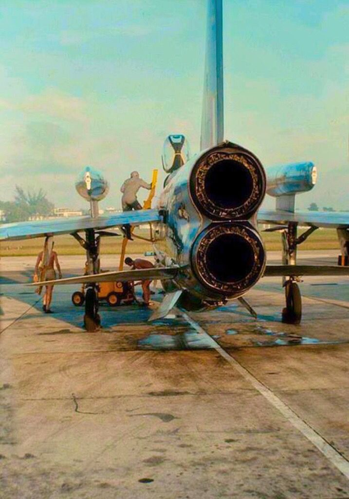 Looking at the backend engine configuration of a British Electric Lightning.