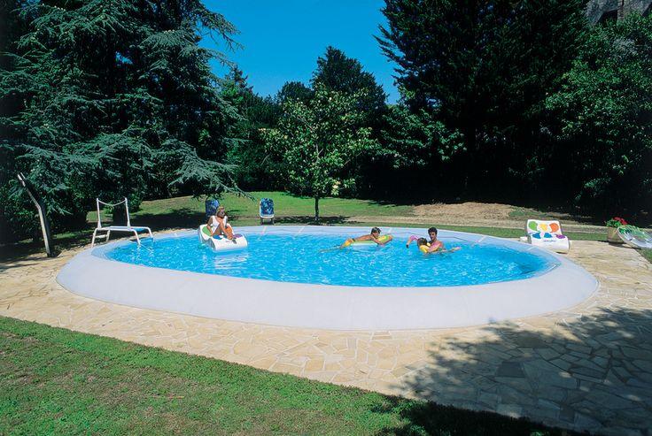 Auch für teilversenkten Einbau sind die #ZODIAC ORIGINAL-#Pools geeignet.