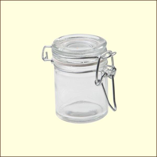 Mini bocal bas joint blanc (par 12)