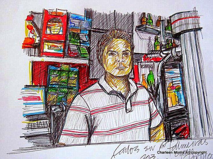 Carlos senior - Palmeiras Cafe Massam - nr Lisbon Portugal