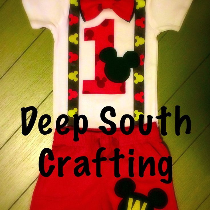 Mickey Mouse first birthday smash cake onesie bodysuit red shorts outfit Disney (this has a double bow tie, these cost 2.00 more) contact me if you want